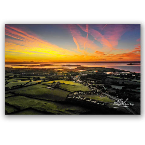 "Image of ""Autumn Sunrise over Kildysart, County Clare"" Irish Poster Print Poster Moods of Ireland"
