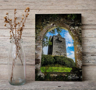 Canvas Wrap - Ballinalacken Castle in Ireland's County Clare - James A. Truett - Moods of Ireland - Irish Art