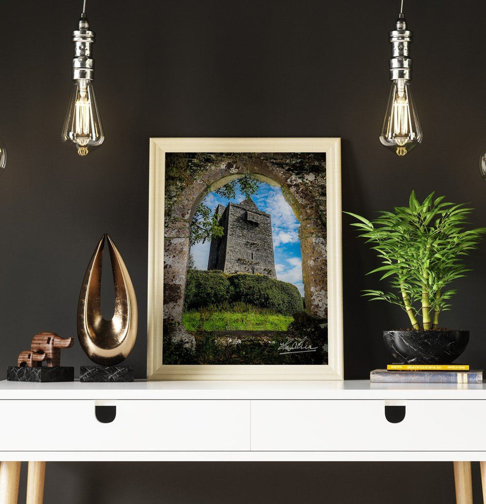 Poster Print - Ballinalacken Castle in County Clare, Ireland Poster Moods of Ireland