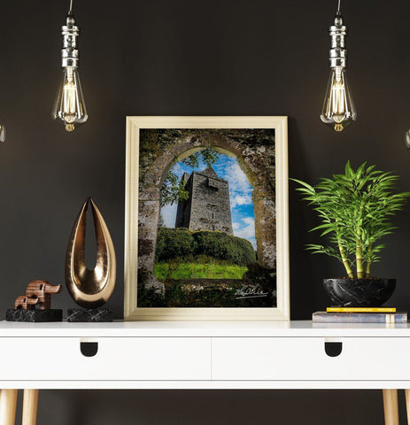 Image of Poster Print - Ballinalacken Castle in County Clare, Ireland Poster Moods of Ireland