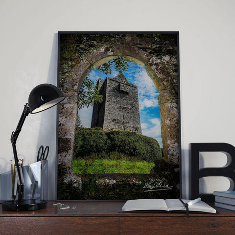 Image of Canvas Wrap - Ballinalacken Castle in Ireland's County Clare - James A. Truett - Moods of Ireland - Irish Art