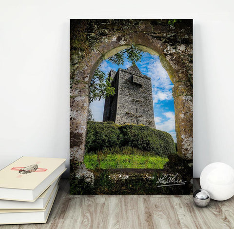 Image of Canvas Wraps - Ballinalacken Castle in Ireland's County Clare Canvas Wrap Moods of Ireland