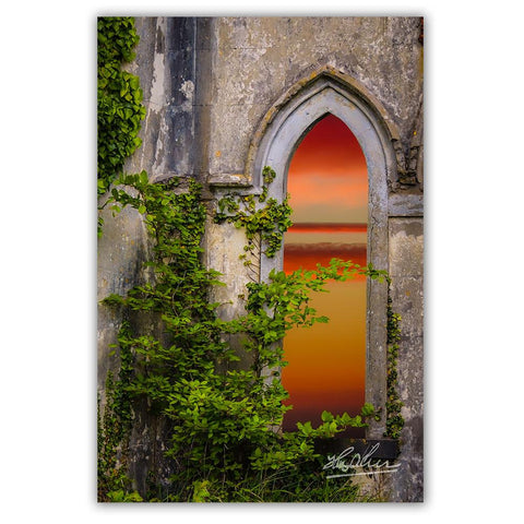 Image of Canvas Wraps - Sunrise at Paradise House near Ballynacally, County Clare Canvas Wrap Moods of Ireland