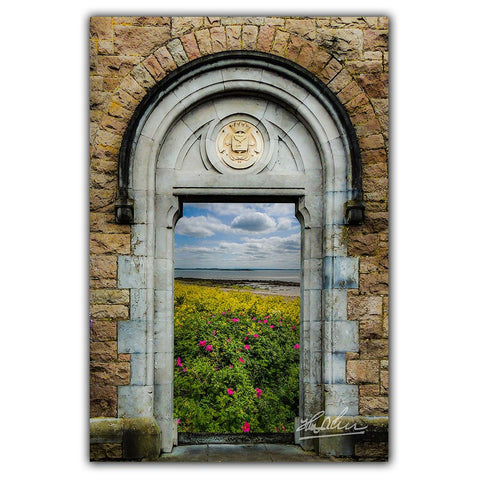 Image of Poster Print - Wildflowers on Galway Bay, Ireland Poster Print Moods of Ireland