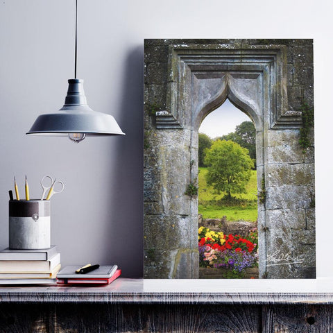 Image of Canvas Wraps - Irish Summer through Kildysart Church Ruins, County Clare, Ireland Canvas Wrap Moods of Ireland