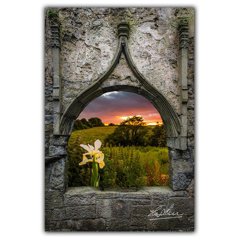 Image of Canvas Wraps - Serene Sunset over County Clare, Ireland Canvas Wrap Moods of Ireland