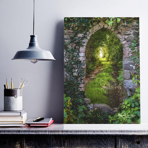 Poster Print - Tranquil Irish Path in County Clare, Ireland