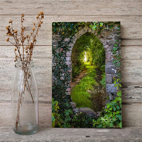 Image of Canvas Wraps - Tranquil Irish Path in County Clare, Ireland Canvas Wrap Moods of Ireland