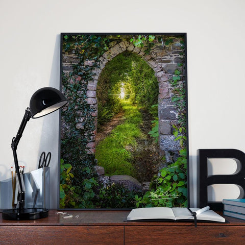 Image of Posters - Tranquil Irish Path in County Clare, Ireland Poster Moods of Ireland