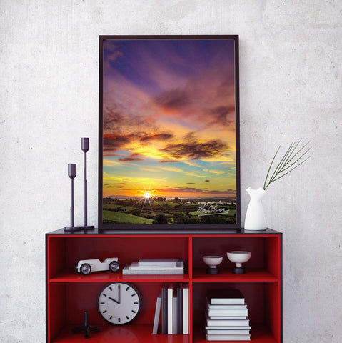 "Image of ""Autumn Sunrise over Shannon Estuary"" Irish Poster Print"