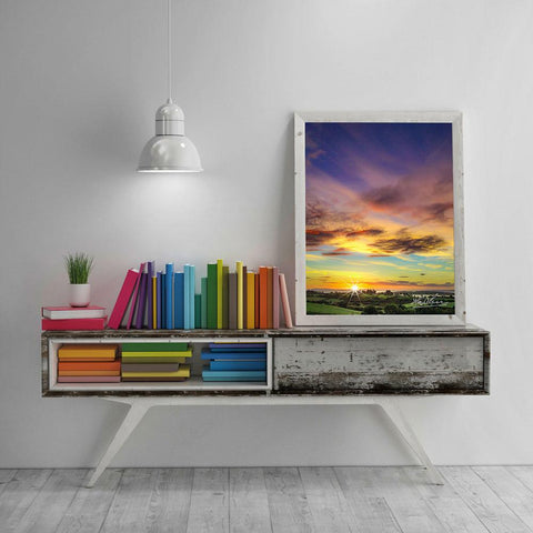 "Image of ""Autumn Sunrise over Shannon Estuary"" Irish Poster Print Poster Moods of Ireland"