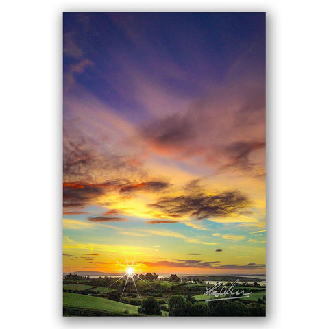 """Autumn Sunrise over Shannon Estuary"" Irish Poster Print"