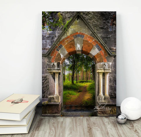 Image of Canvas Wrap - Portal to Portumna Forest, County Galway - James A. Truett - Moods of Ireland - Irish Art
