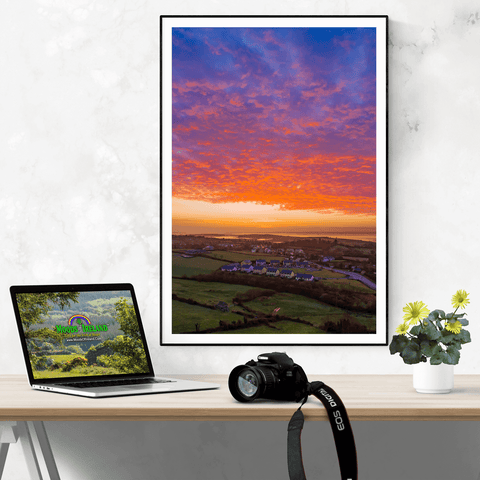 Poster Print - Radiant Sunrise over Ireland's Shannon Estuary Poster Print Moods of Ireland