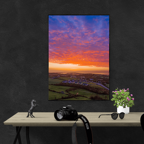 Image of Poster Print - Radiant Sunrise over Ireland's Shannon Estuary Poster Print Moods of Ireland