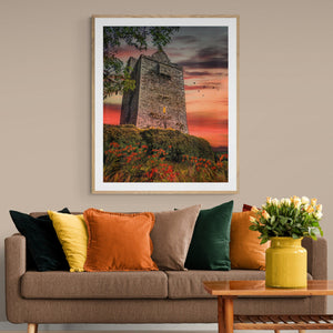 Print - Ballinalacken Castle at Sunset, County Clare - James A. Truett - Moods of Ireland - Irish Art