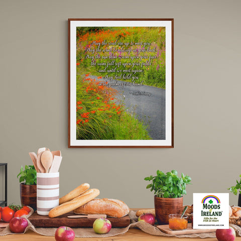 Image of Irish Blessing Print - May the Road Rise to Meet You - James A. Truett - Moods of Ireland - Irish Art