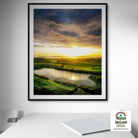 Image of Print - Sunrise Reflections in Ballylean Lough, County Clare, Ireland - James A. Truett - Moods of Ireland - Irish Art