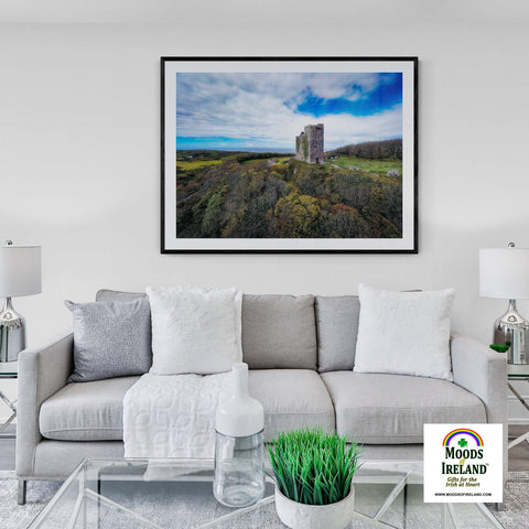 Print - Ballinalacken Castle Vista of Atlantic Ocean, County Clare