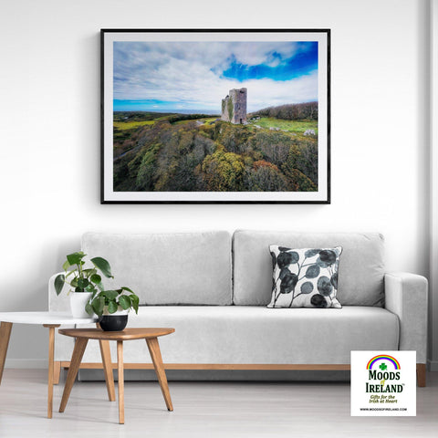 Image of Print - Ballinalacken Castle Vista of Atlantic Ocean, County Clare - James A. Truett - Moods of Ireland - Irish Art