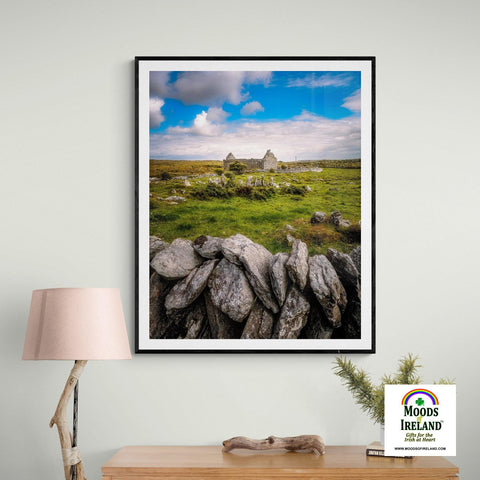 Print - Ruins of Carran Church, in the Burren, County Clare - James A. Truett - Moods of Ireland - Irish Art
