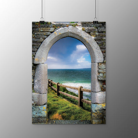 Image of Poster Print - County Clare Atlantic Storm at Lahinch Poster Print Moods of Ireland