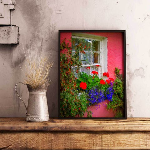 Print - Irish Cottage Window at Bunratty Castle, County Clare - James A. Truett - Moods of Ireland - Irish Art