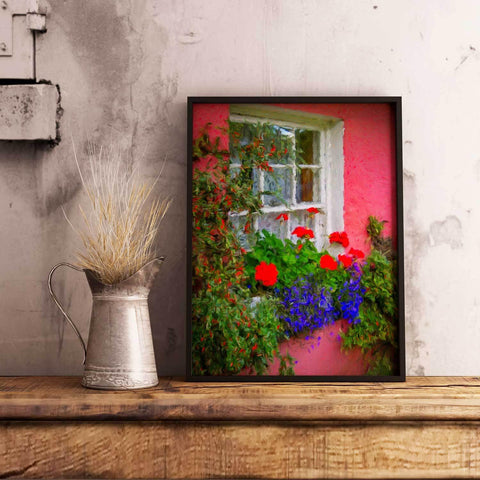 Image of Canvas Wrap - Irish Cottage at Bunratty Castle, County Clare Canvas Wrap Moods of Ireland