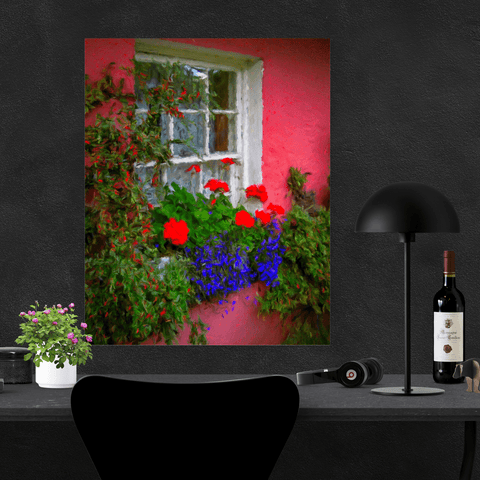 Poster Print - Irish Cottage Window at Bunratty Castle, County Clare Poster Moods of Ireland