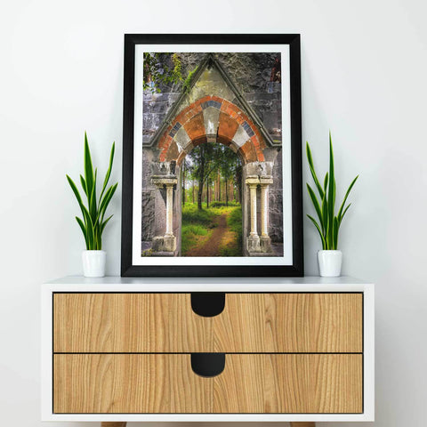 Poster Print - Portal to Portumna Forest, County Galway, Ireland, Irish Wall Art Poster Moods of Ireland
