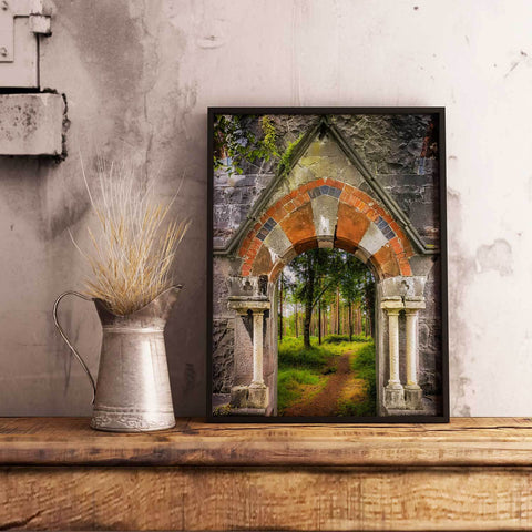 Image of Poster Print - Portal to Portumna Forest, County Galway, Ireland, Irish Wall Art Poster Moods of Ireland