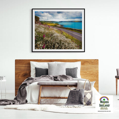 Image of Print - Field of blooms along Shannon Estuary, County Clare - James A. Truett - Moods of Ireland - Irish Art