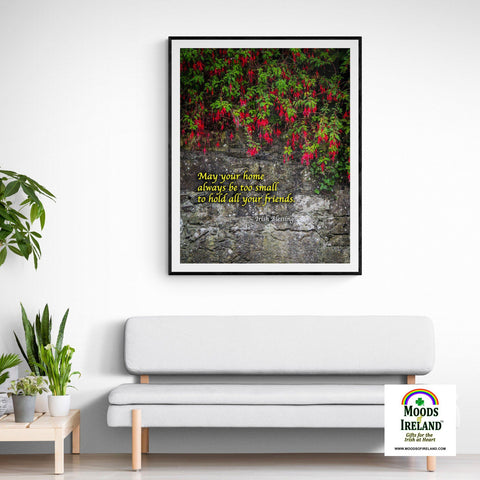 Print - Irish Blessing, May Your Home Always Be Too Small - James A. Truett - Moods of Ireland - Irish Art
