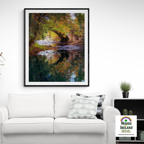 Image of Print - Water under Clondegad Bridge, County Clare - James A. Truett - Moods of Ireland - Irish Art