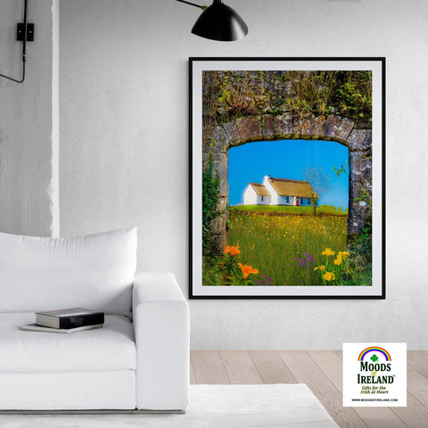 Print - Thatched Cottage on a Hill, County Clare - James A. Truett - Moods of Ireland - Irish Art