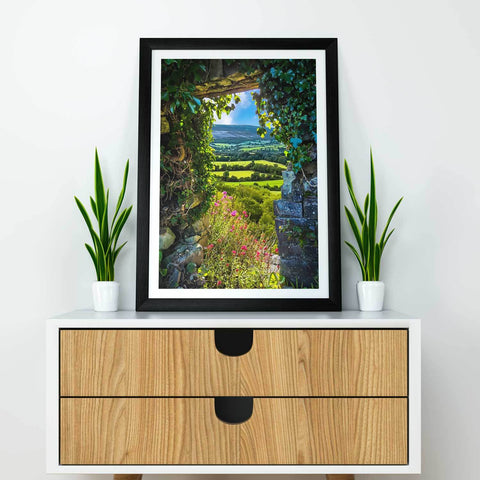 Image of Canvas Wraps - Secret Irish Garden, County Clare, Ireland Canvas Wrap Moods of Ireland