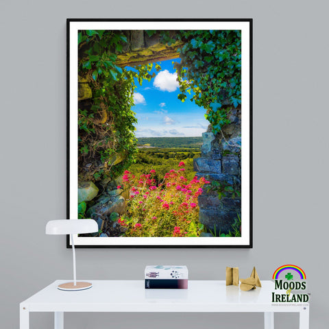 Print - Secret Irish Garden, County Clare - James A. Truett - Moods of Ireland - Irish Art