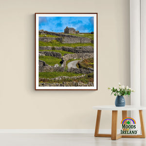 Print - Stone Cottage on a Hill, Inisheer, Aran Islands, County Galway - James A. Truett - Moods of Ireland - Irish Art