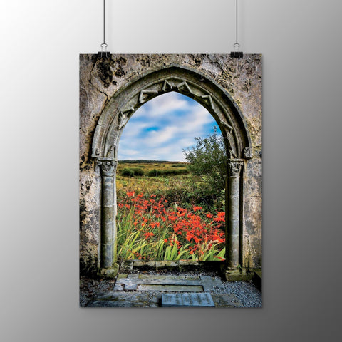 Image of Poster Print - Medieval Portal to Irish Summer in County Clare Poster Print Moods of Ireland