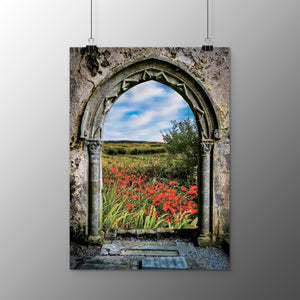 Poster Print - Medieval Portal to Irish Summer in County Clare Poster Print Moods of Ireland