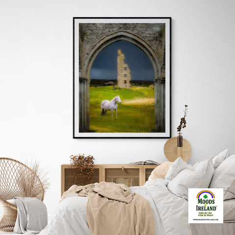 Print - Dough Castle in Lahinch, County Clare - James A. Truett - Moods of Ireland - Irish Art