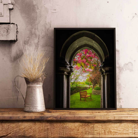Image of Canvas Wraps - Medieval Abbey in Irish Spring, Quin Abbey, County Clare, Ireland Canvas Wrap Moods of Ireland