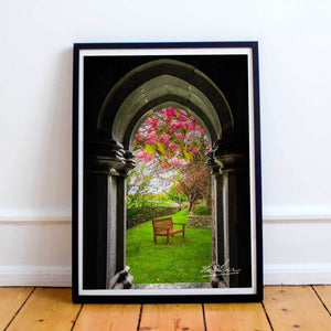 Poster Print - Medieval Abbey in Irish Spring, County Clare, Ireland Poster Moods of Ireland