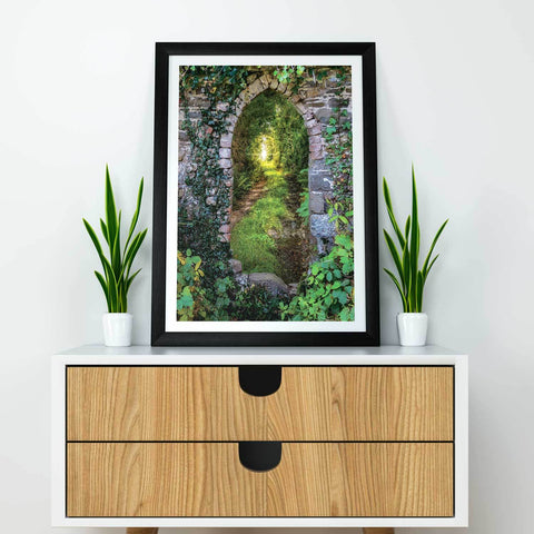 Image of Poster Print - Tranquil Irish Path in County Clare, Ireland Poster Moods of Ireland