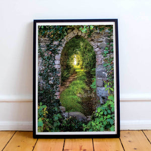 Poster Print - Tranquil Irish Path in County Clare, Ireland Poster Moods of Ireland