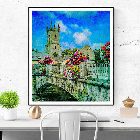 Image of Print - Ennis Friary in Summer - James A. Truett - Moods of Ireland - Irish Art
