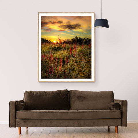 Image of Print - Fairy Fingers at Sunrise, County Clare Poster Print Moods of Ireland