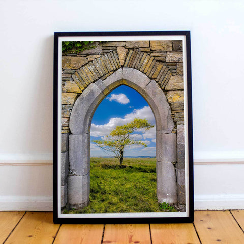 Image of Poster Print - Portal to Irish Summer, County Clare, Ireland Poster Print Moods of Ireland