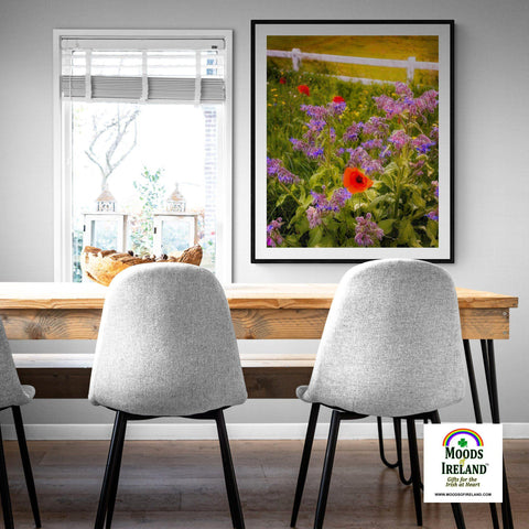 Print - Wildflower Meadow at Ballynacally, County Clare - James A. Truett - Moods of Ireland - Irish Art