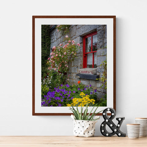 Image of Ireland Print - Flowers at Cassidy's Pub, Carran, County Clare - James A. Truett - Moods of Ireland - Irish Art